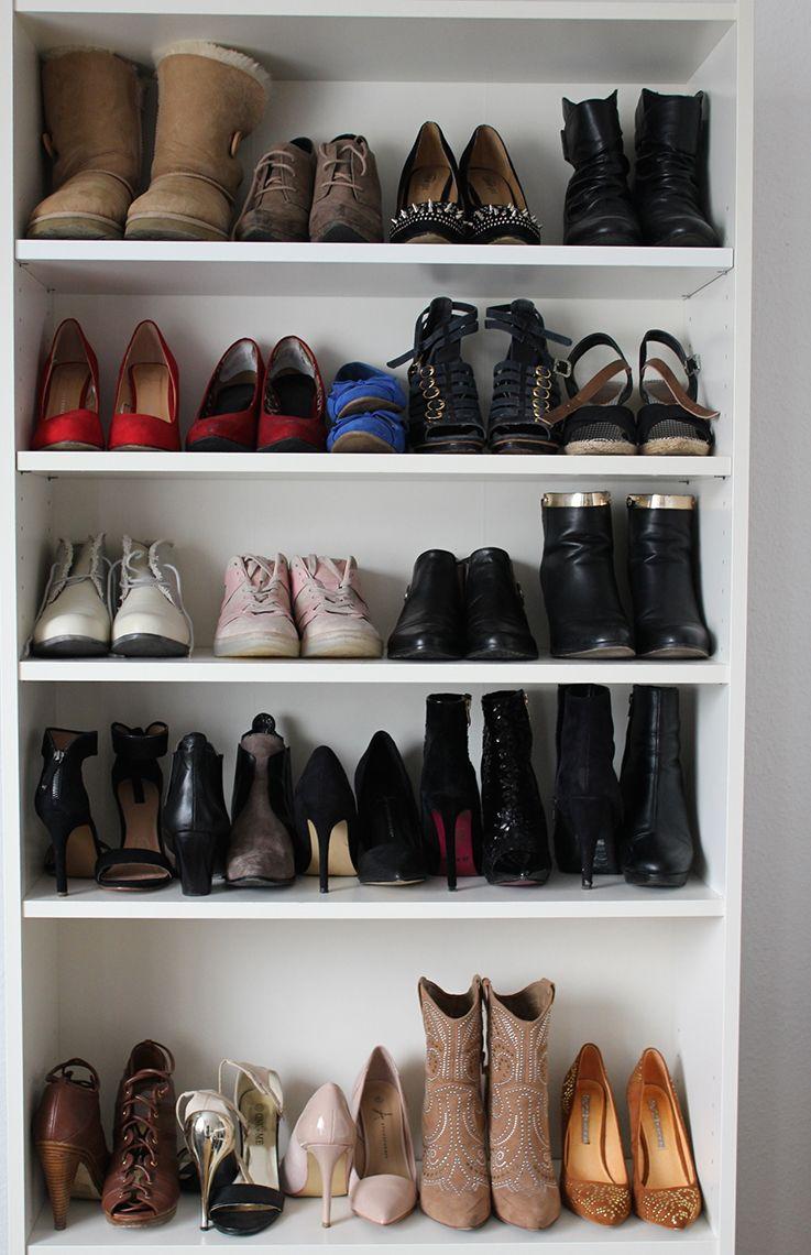 Eine Frau Hat Nie Genug Schuhe Schuhschrank Grosser Schuhschrank