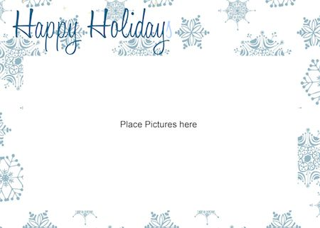 Free Printable Photo Card Template  Just Print  Add Your Photo