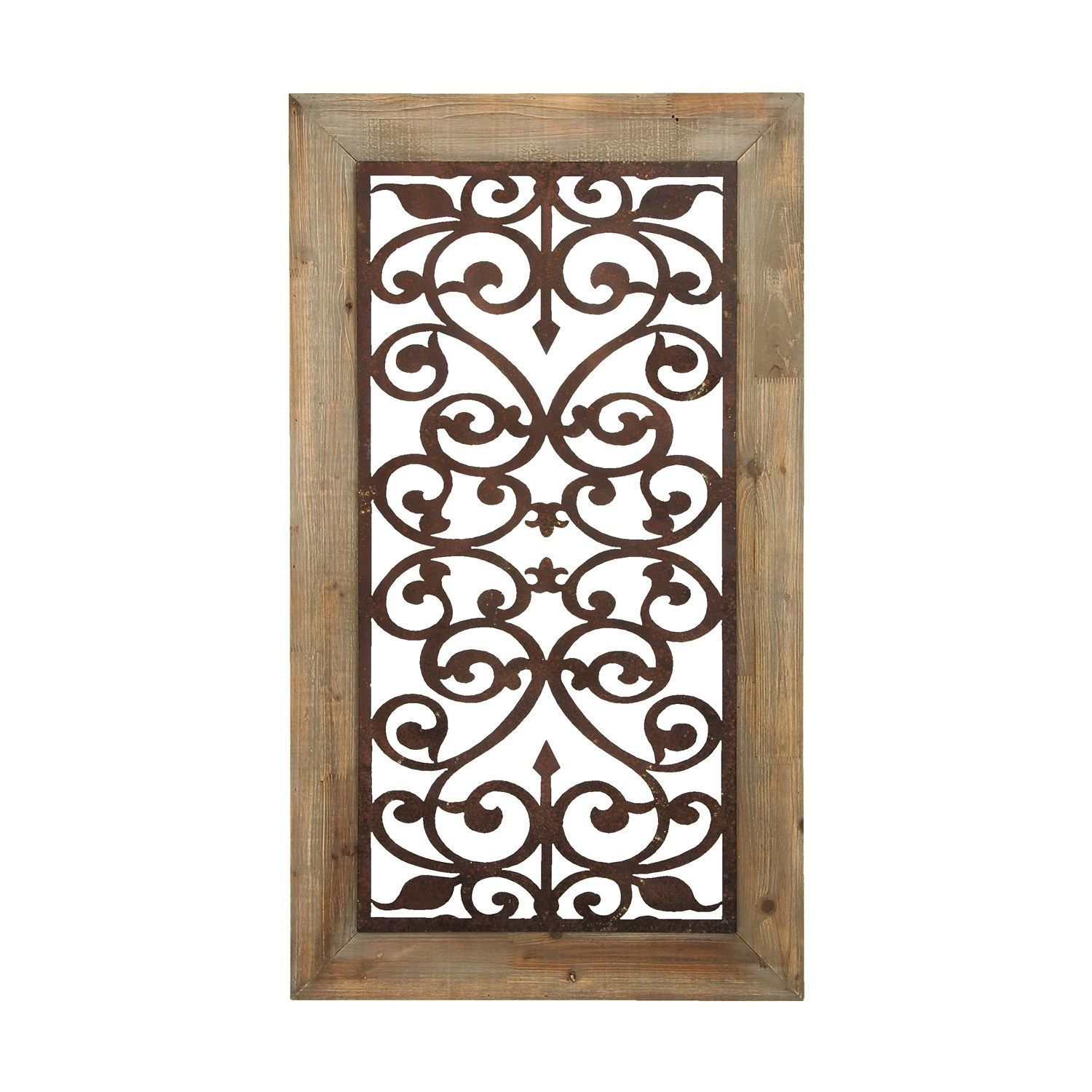 Ironwork For Walls Woodland Imports 85971 Garden Style Wall Plaque With Scrolling