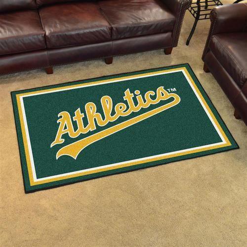 Oakland Athletics Area Rug Carpet Flooring 4x6
