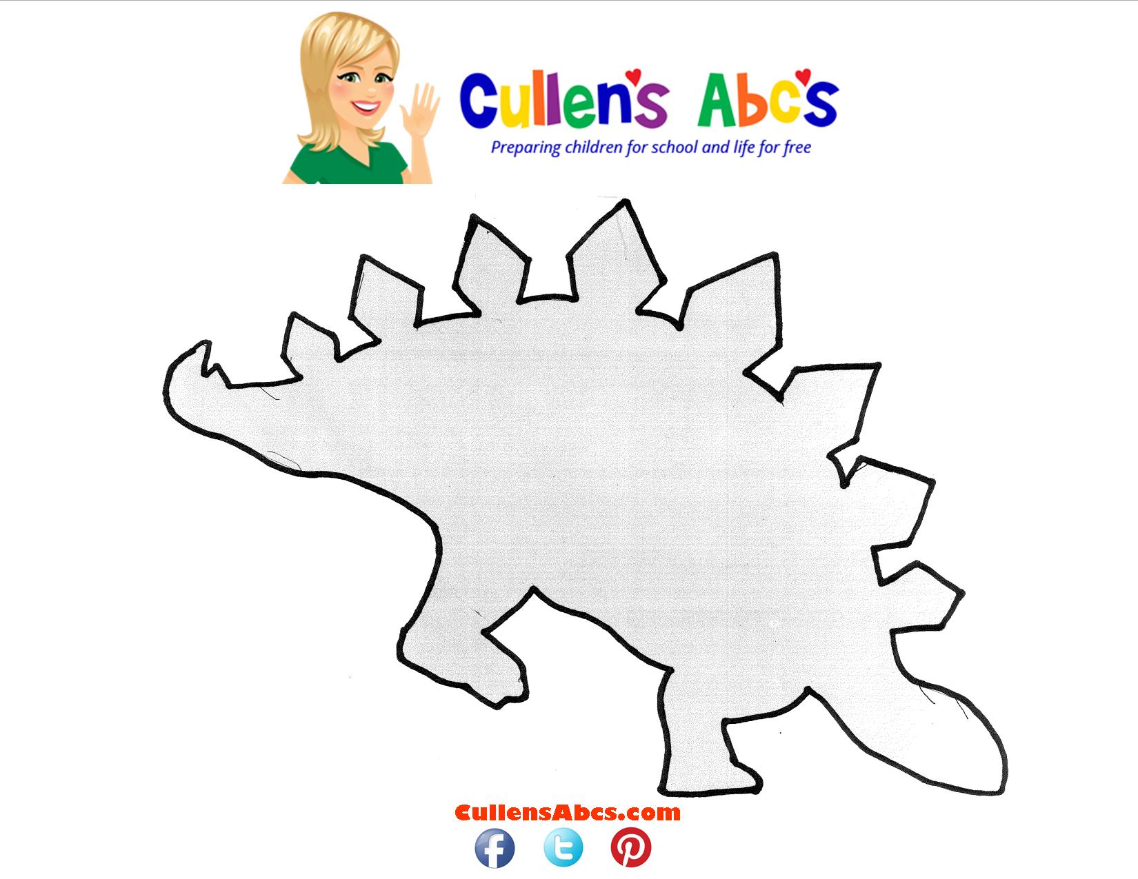 Dinosaur Stegosaurus Pattern Online Preschool