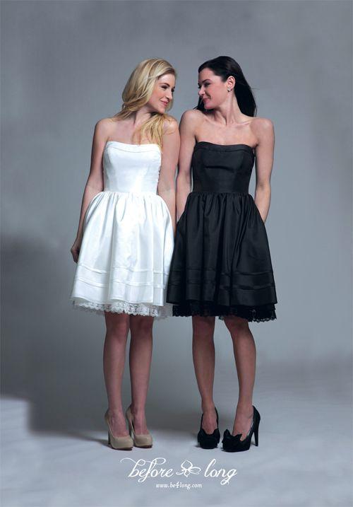 Black and White Reception Dresses