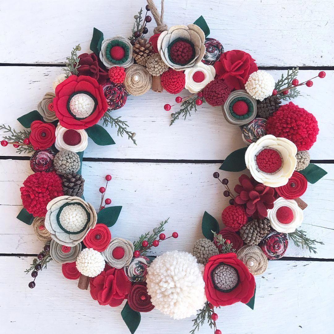 Diy Christmas Wreaths Ball Ornaments Christmas Wallpaper