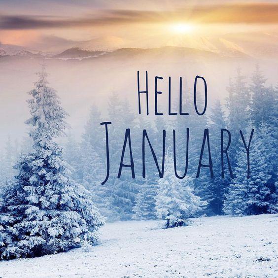 Hello #january ❄ :   MESI   Pinterest   Hello January And Facebook Cover  Pics