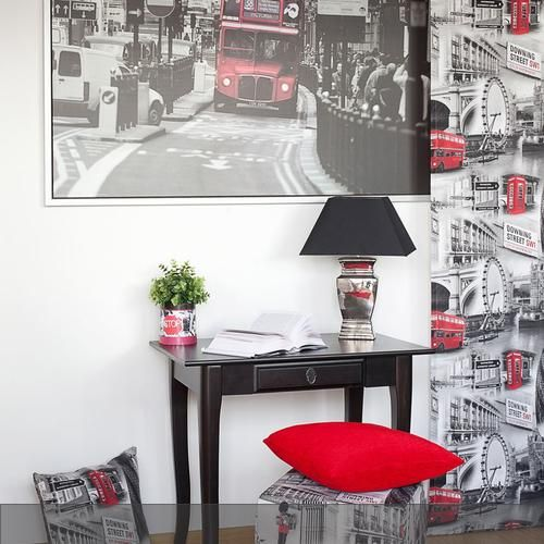 Jugendzimmer Mit London Print