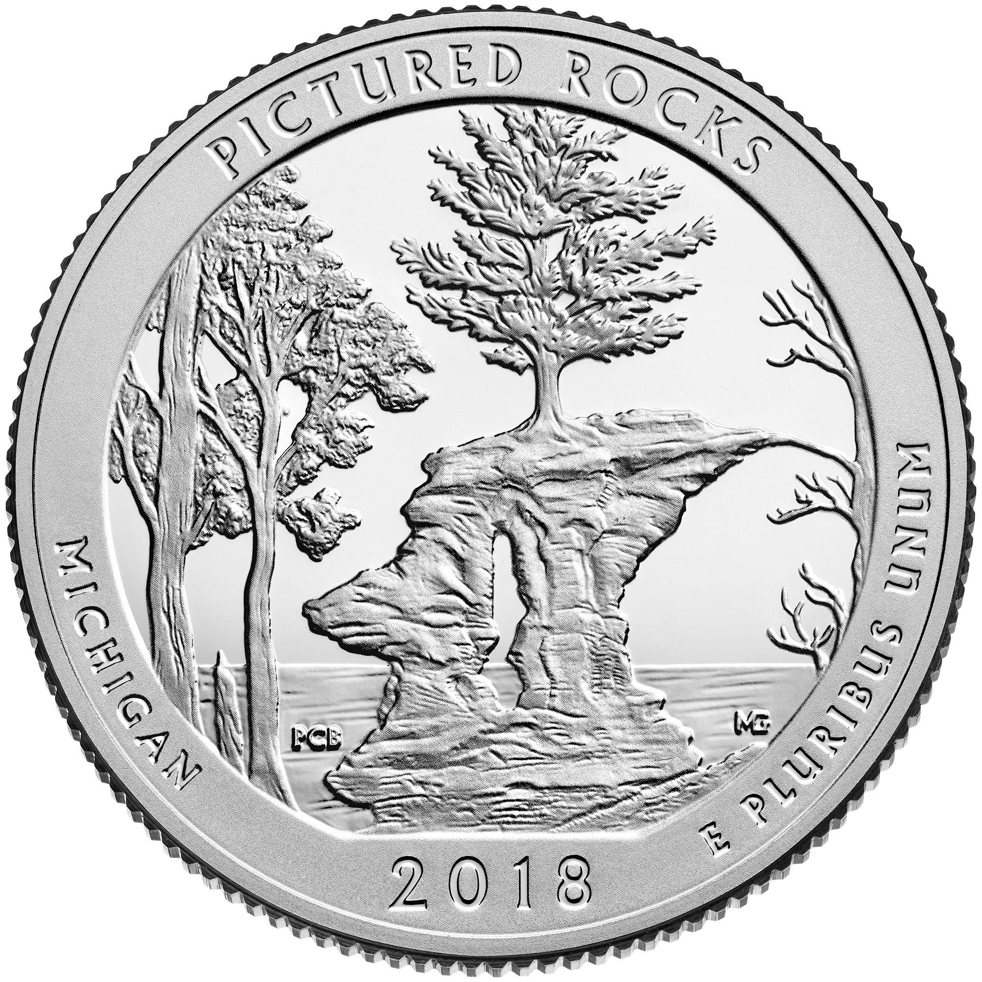Michigan Pictured Rocks National Lakeshore America The Beautiful 2018 D