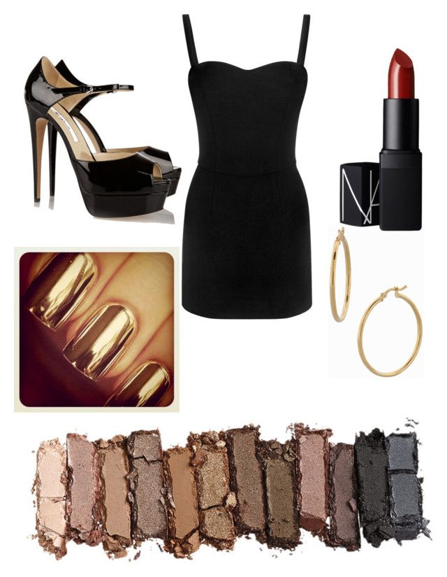 """""""Girls night out"""" by tatiana142 ❤ liked on Polyvore featuring Alexander McQueen, Brian Atwood, Bony Levy, NARS Cosmetics and Urban Decay"""