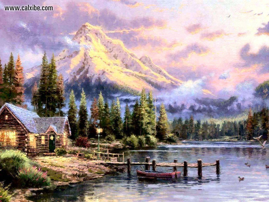 Thomas Kinkade Spring Wallpaper  Related Pictures Kinkade -6597