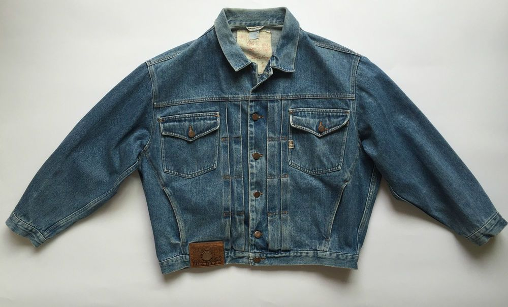 info for 59c5d 5f24f Americanino giacca jeans vintage jacket biker giubbotto blu ...