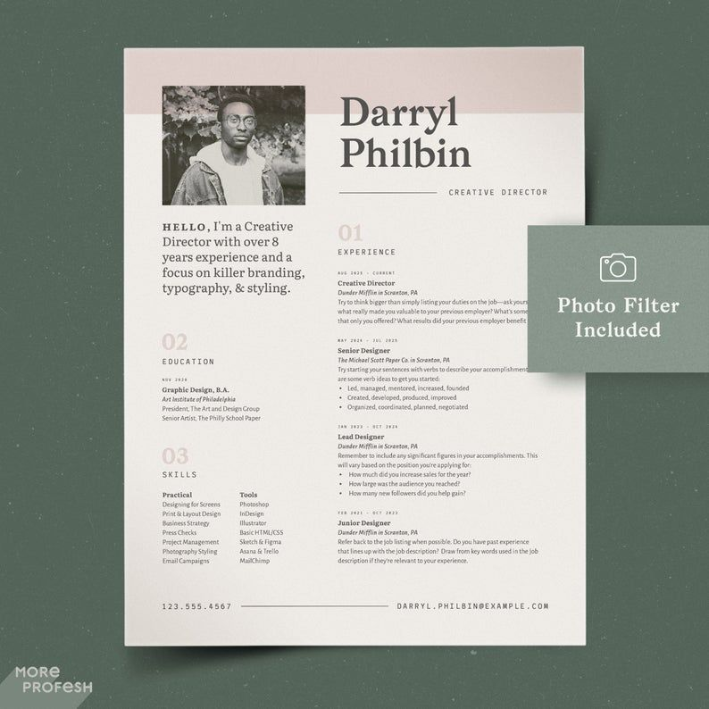 Resume InDesign Resume Graphic Designer CV Template with