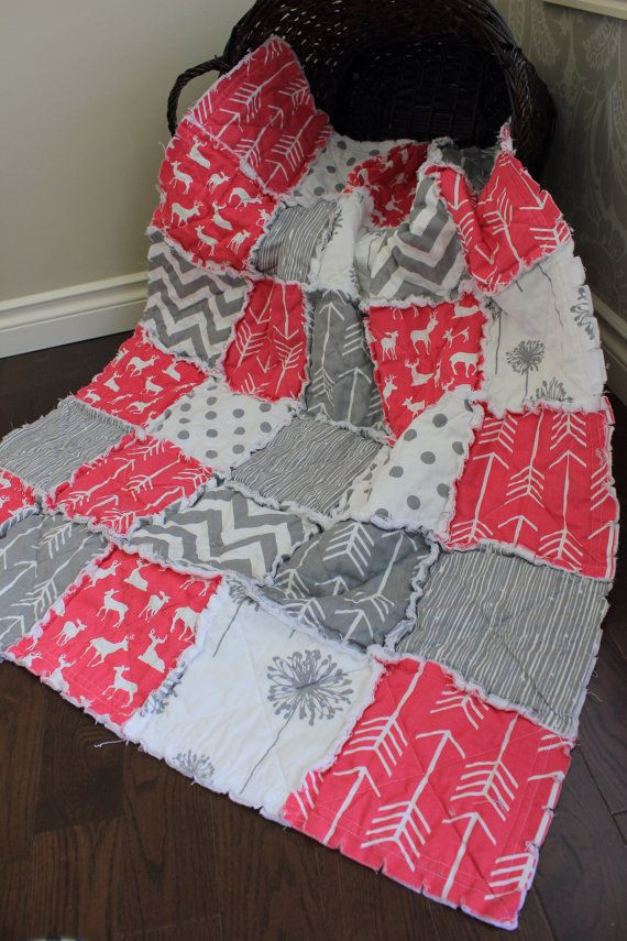 Rag Quilt Baby Rag Quilt Crib Blanket Premier Prints By Rozonsrags