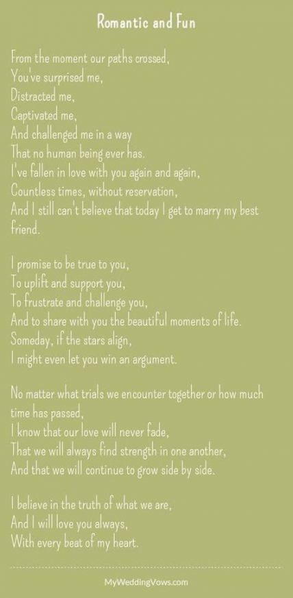 65 Trendy Ideas Wedding Vows Funny Laughing Traditional Wedding Vows Wedding Vows To Husband Marriage Vows