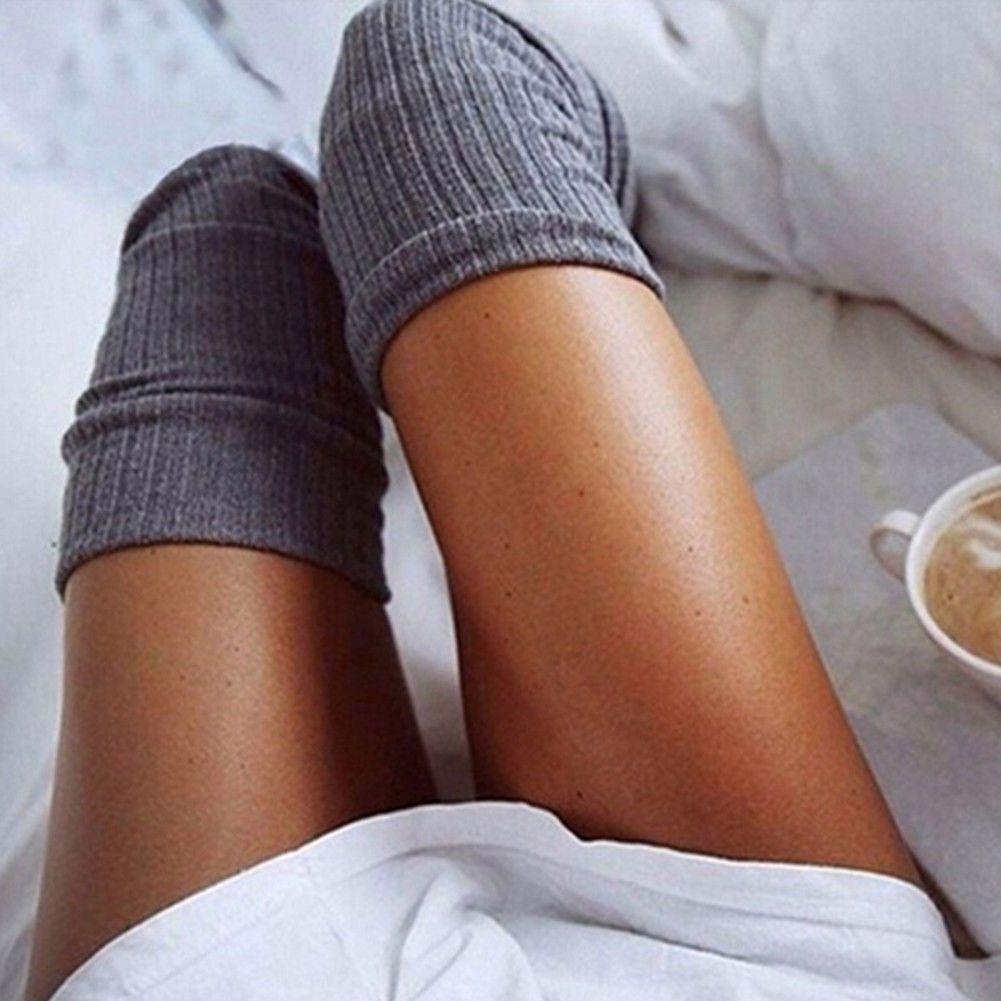 f062804a0eb  2.81 - Ladies Girls Women Thigh High Cotton Over Knee Socks Long Soft  Stockings Warm  ebay  Fashion