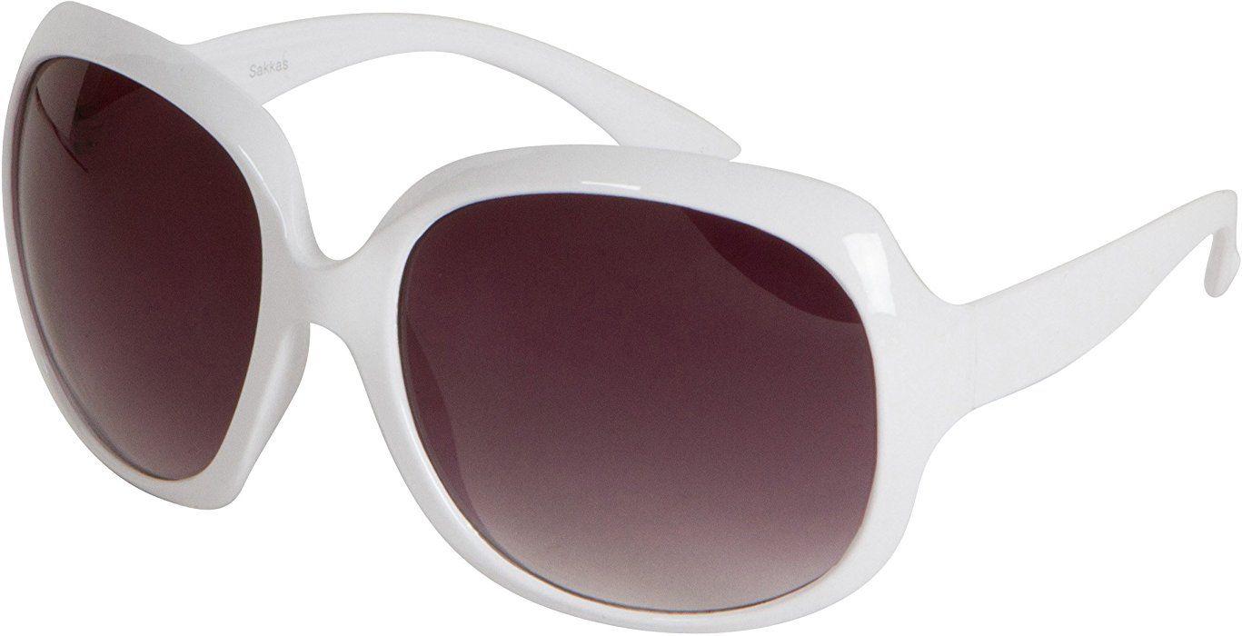 bdafce538a45 Retro Vintage Oversized Frame Fashion Sunglasses - Black/Smoke: Amazon.co.uk