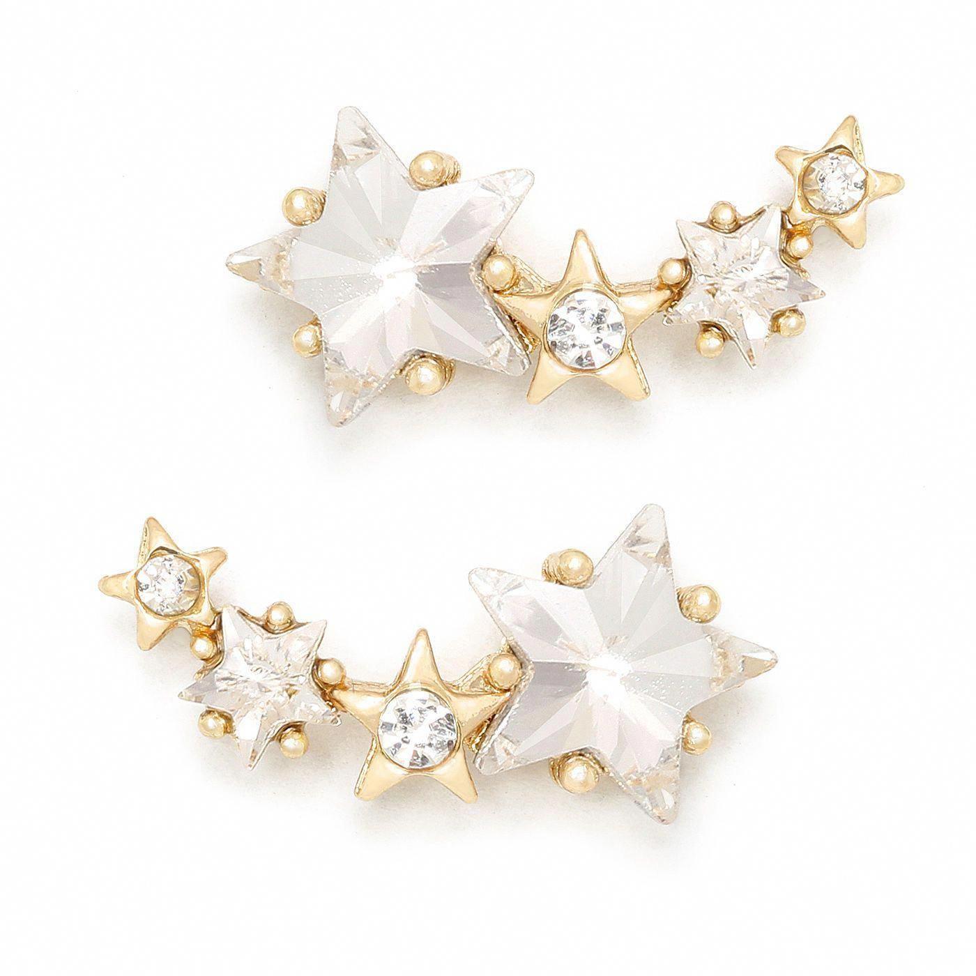 Celebrity Style Jewelry Stud Earrings 925 Sterling Silver