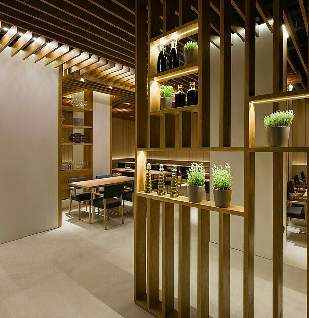 Pin By Feilicia Josephine On 餐飲 Restaurant Decorative Room Dividers Room Partition Designs Living Room Divider