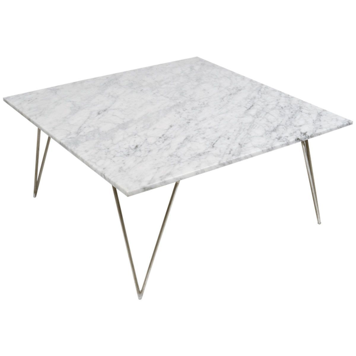 Worlds Away Hairpin Leg Coffee Table With Marble Top Neal Gb Coffee Table Gold Coffee Table Coffee Table Square