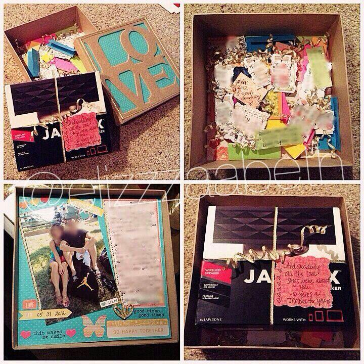 Cute box idea dating anniversary gifts diy anniversary