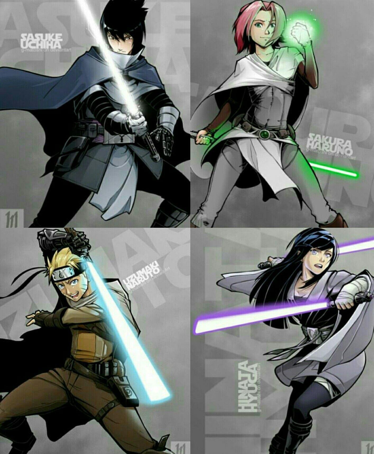 Starwars crossover  Anime stars, Star wars images, Darth vader