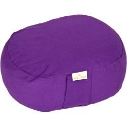 Photo of Yogilino® travel meditation cushion mini oval basic, purple yoga box