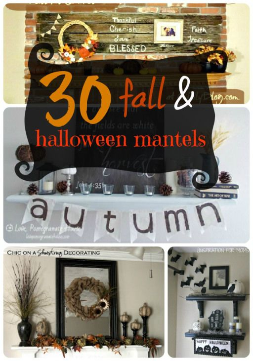 30 Fall and Halloween Mantel Ideas DIY Halloween Pinterest