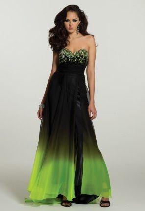 poison ivy inspired dress | Green wedding dresses, Lime ...