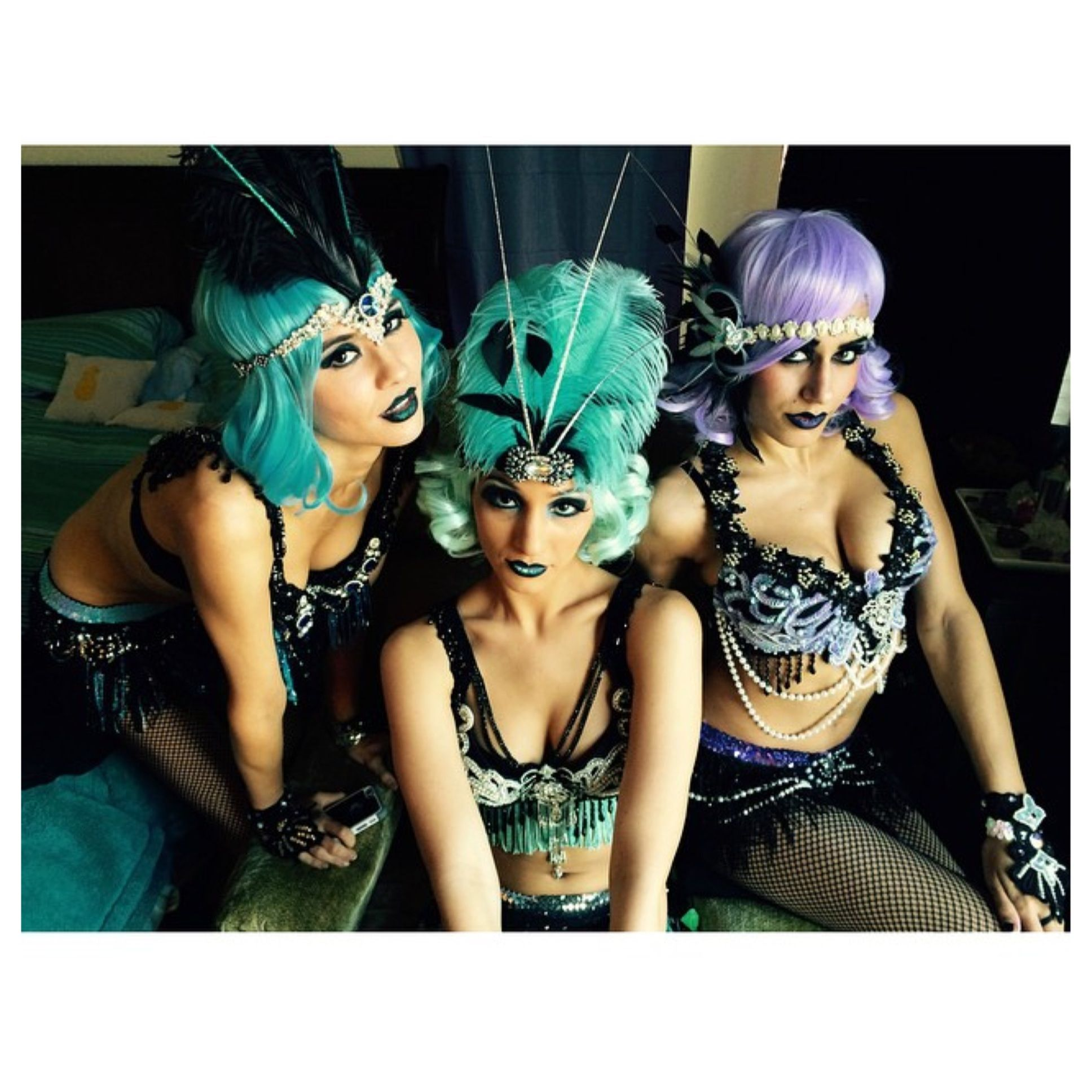 The gorgeous Skill Sirens in head to toe Krave Wear ready for POP NYE