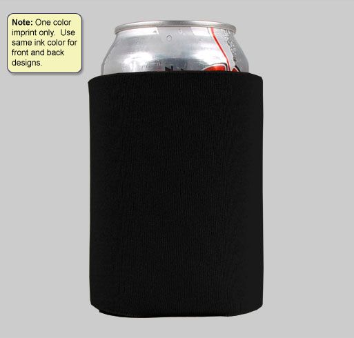 Black koozies with green writing for favors?