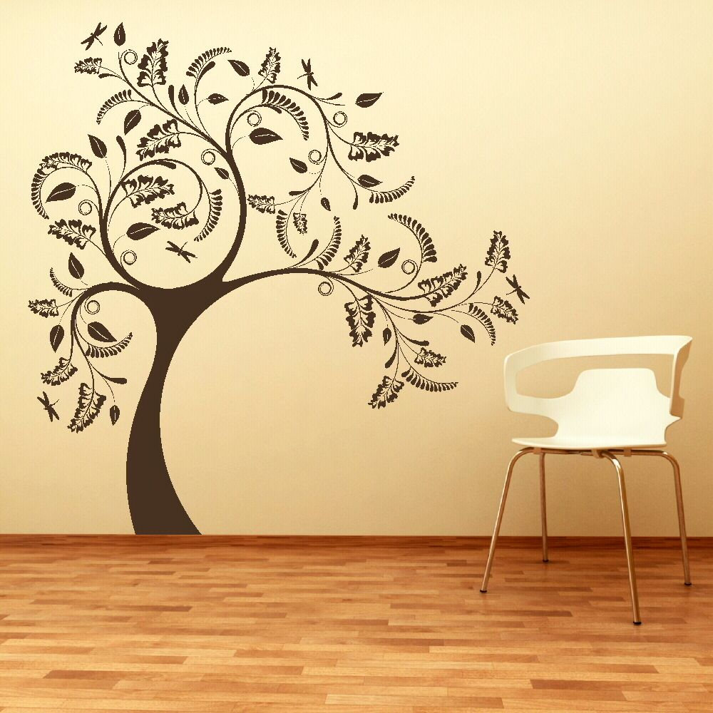 LARGE TREE GIANT Wall sticker huge removable vinyl uk decal stencil ...