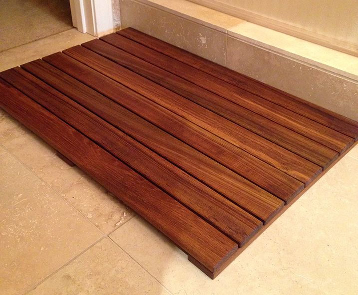 Teak Bathroom Floor Mat Featured On Rust Oleum S