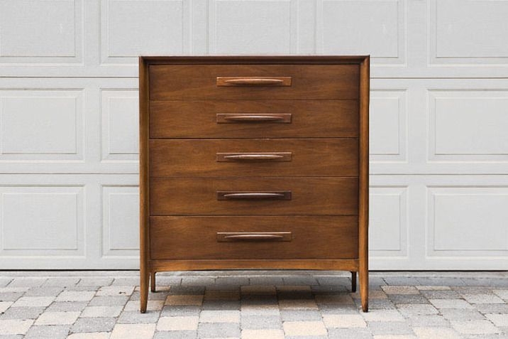 Best Vintage Mid Century Five Drawer Highboy Dresser Broyhill 400 x 300