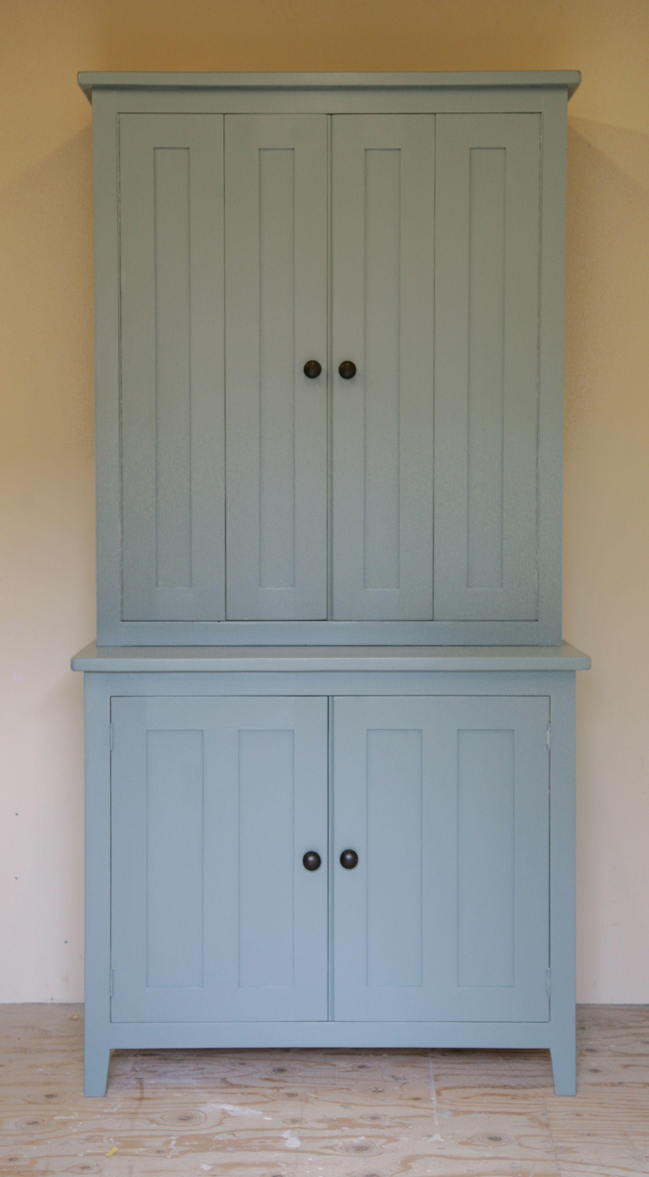 Our freestanding larder unit with bi-folding doors, complete with ...