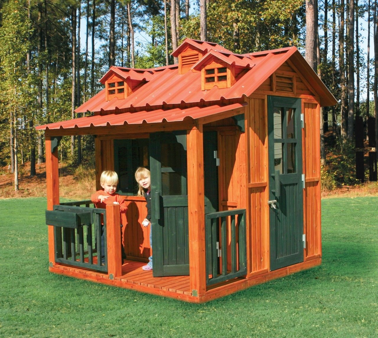 Lovely Funny And Cute Kids Exterior Playhouse Design Inspiration Outdoor Kids Play  House With Wooden Wall Idea Part 21