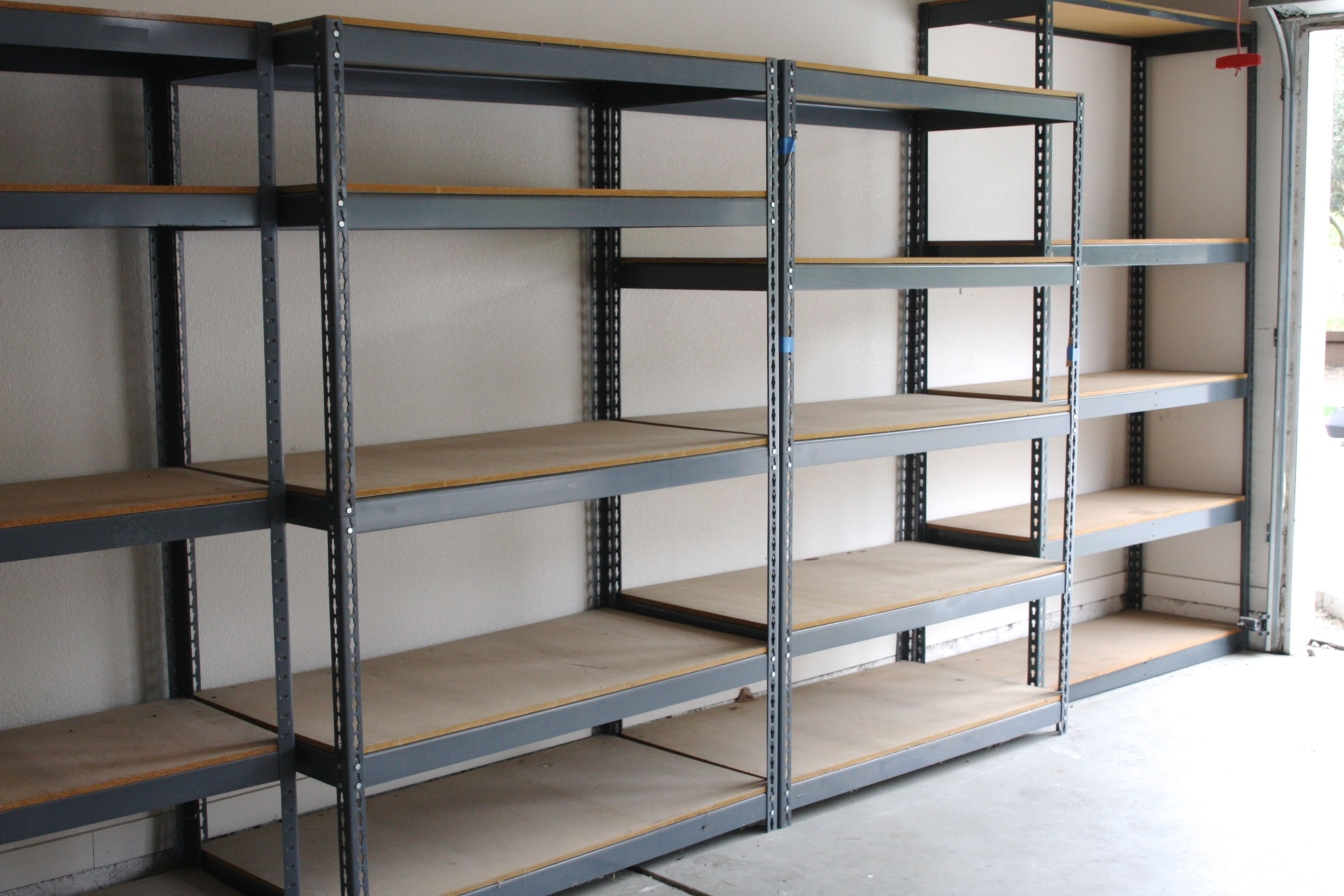 Pin By Marilyn Mount On Garage Garage Shelving Metal Garage Shelves Garage Storage Shelves