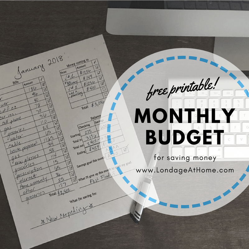 Grab This Free Printable For A  Budget Plan Failing To Plan
