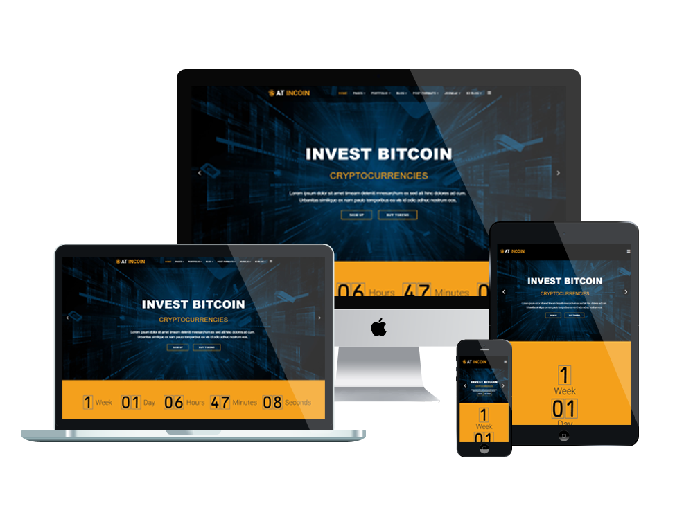 at incoin free responsive cryptocurrency website template. Black Bedroom Furniture Sets. Home Design Ideas