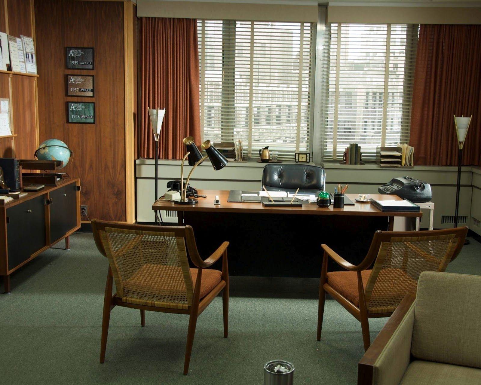 Office Retro Office Design Mad Men Interior Design Mad Men Furniture Mad Men Decor