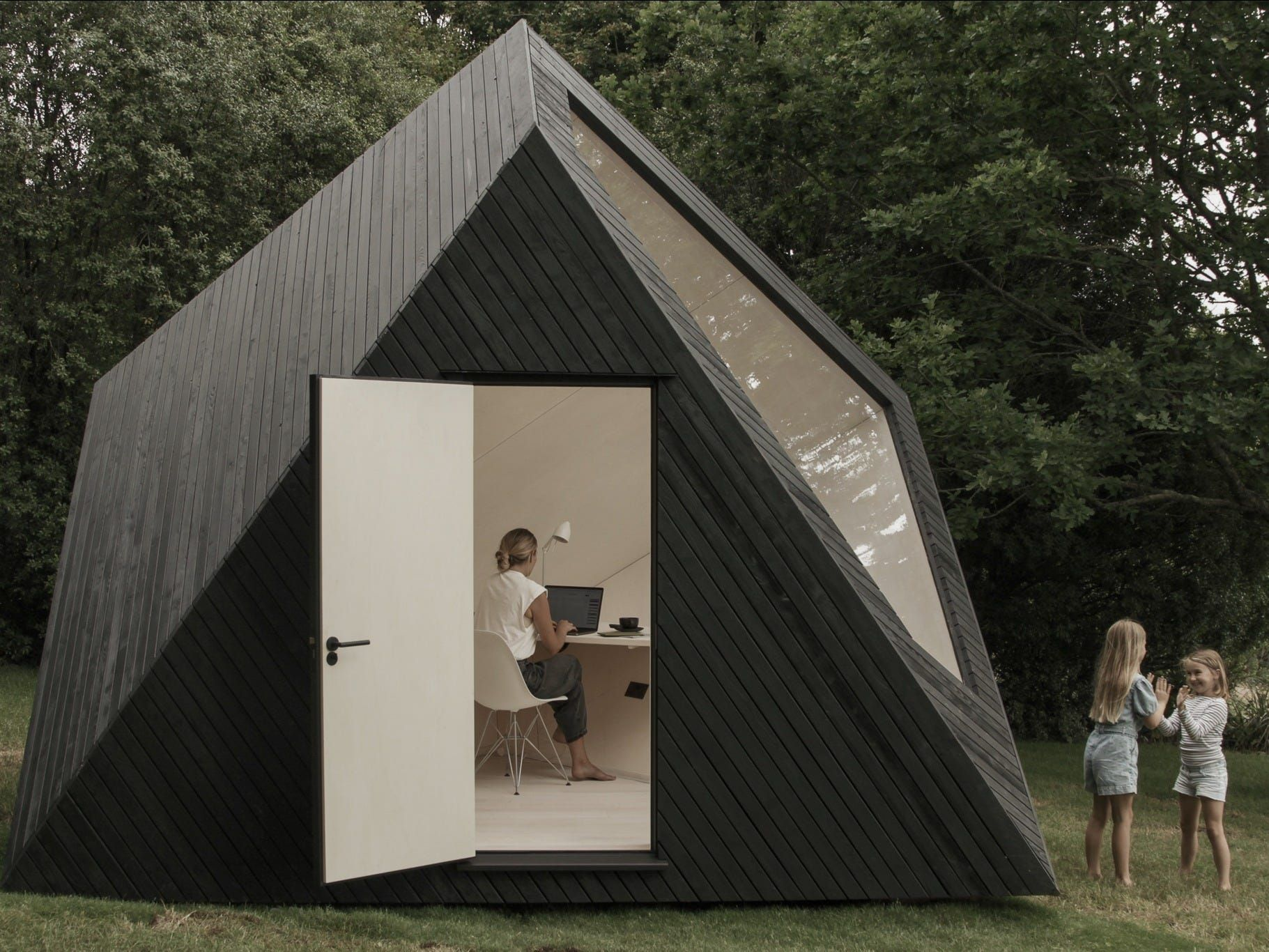 This 33,000 tiny cabin that looks like a sculpture and