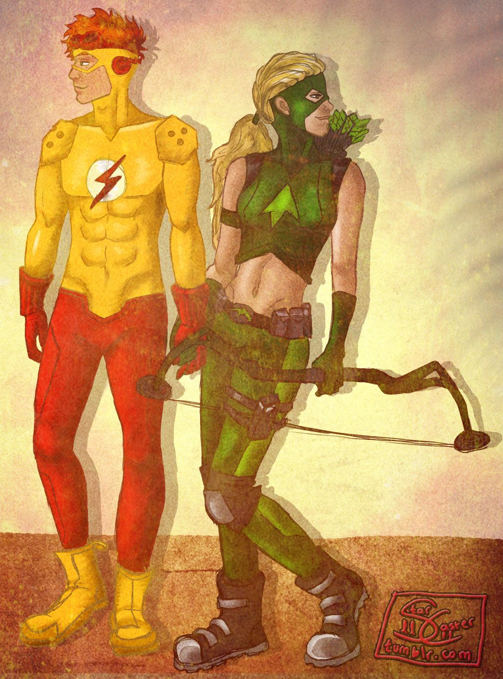 Young Justice - Kid Flash and Artemis by llStarCasterll ...