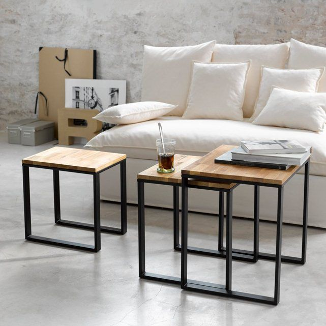 beistelltisch 3er set hiba la redoute interieurs. Black Bedroom Furniture Sets. Home Design Ideas