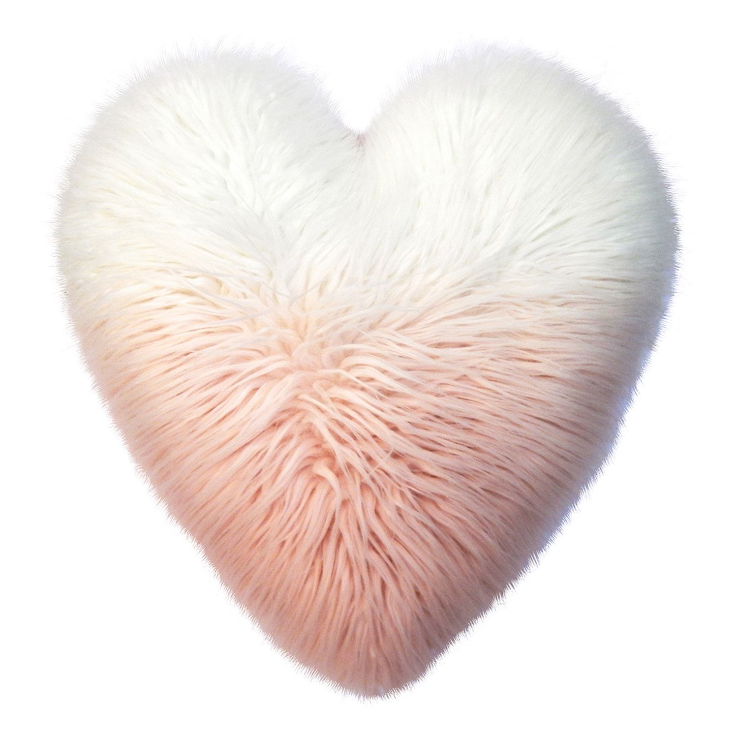 Celebrate Valentine S Day Together Heart Shaped Faux Fur Plush Back Throw Pillow Plush Throw Pillows Pink Home Accessories Fur Throw Pillows