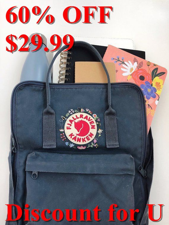 Fjallraven Kanken Backpack Whsgeiium With Images Embroidered