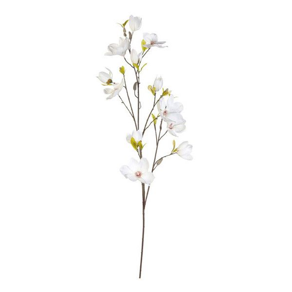 Oka Faux Magnolia Flower Stem 33 Liked On Polyvore Featuring Home Home Decor Floral Decor Fake Flower Arrangements Magnolia Flower Fake Flower Bouquet