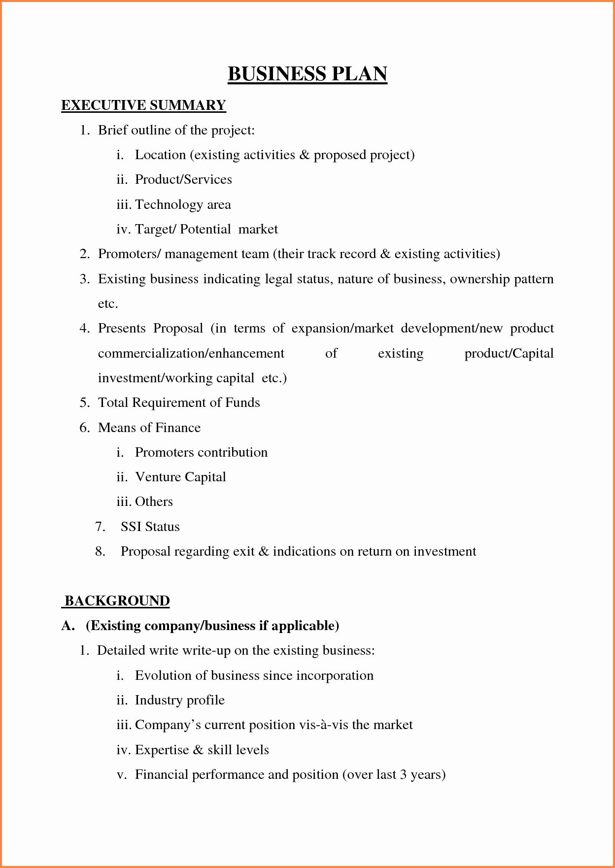 Business Plan Template Pdf Best Of 5 Sample Of Business