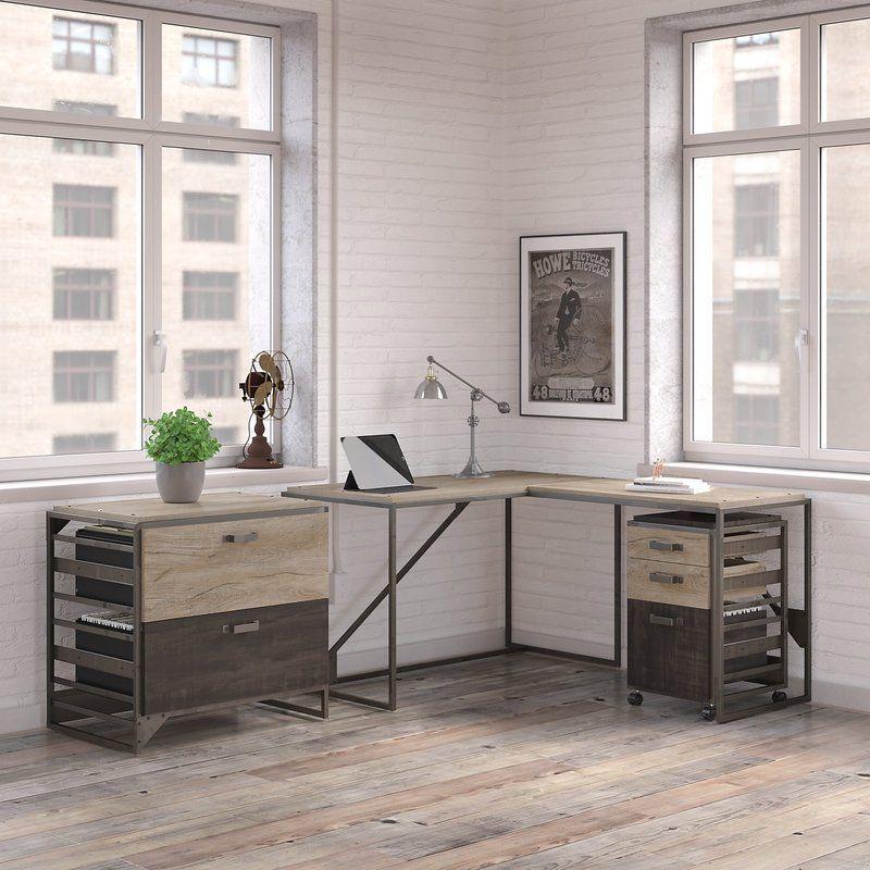 Greyleigh Edgerton 3 Piece L-Shaped Desk Office Suite