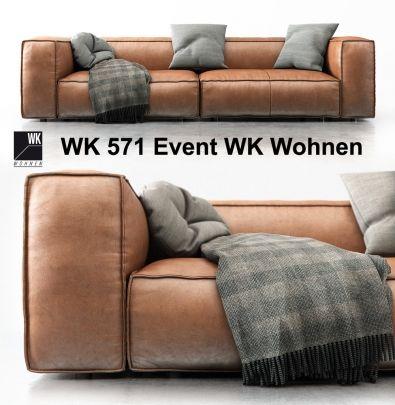 modern wk wohnen wk 571 event wk wohnen sofas 3d models. Black Bedroom Furniture Sets. Home Design Ideas