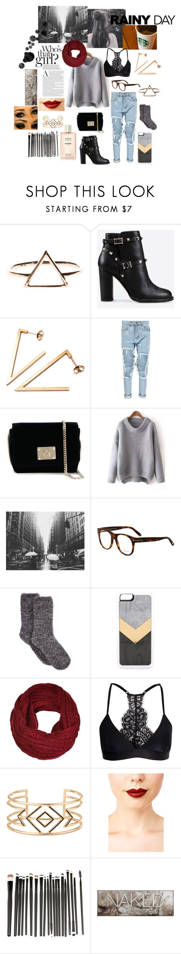 """Gray days and coffee dates"" by mara9914 ❤ liked on Polyvore featuring Valentino, Stephanie Bates, Boohoo, Jimmy Choo, Tom Ford, Charter Club, Zero Gravity, Y.A.S, Stella & Dot and Jeffree Star"