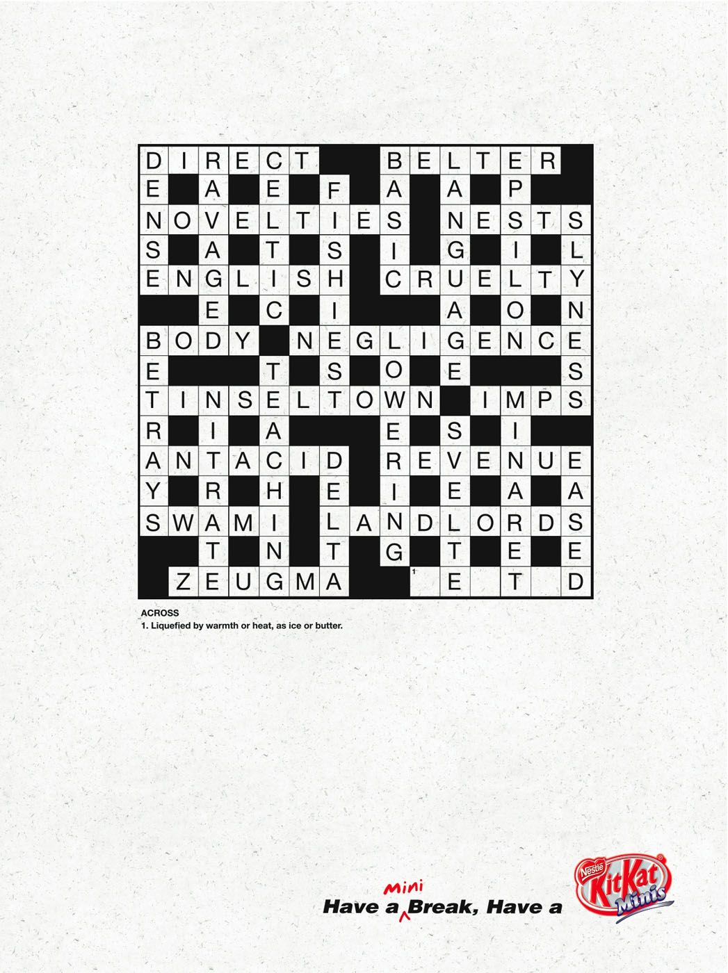 Mini Crossword Creative Ads Inspiration Gallery Crossword