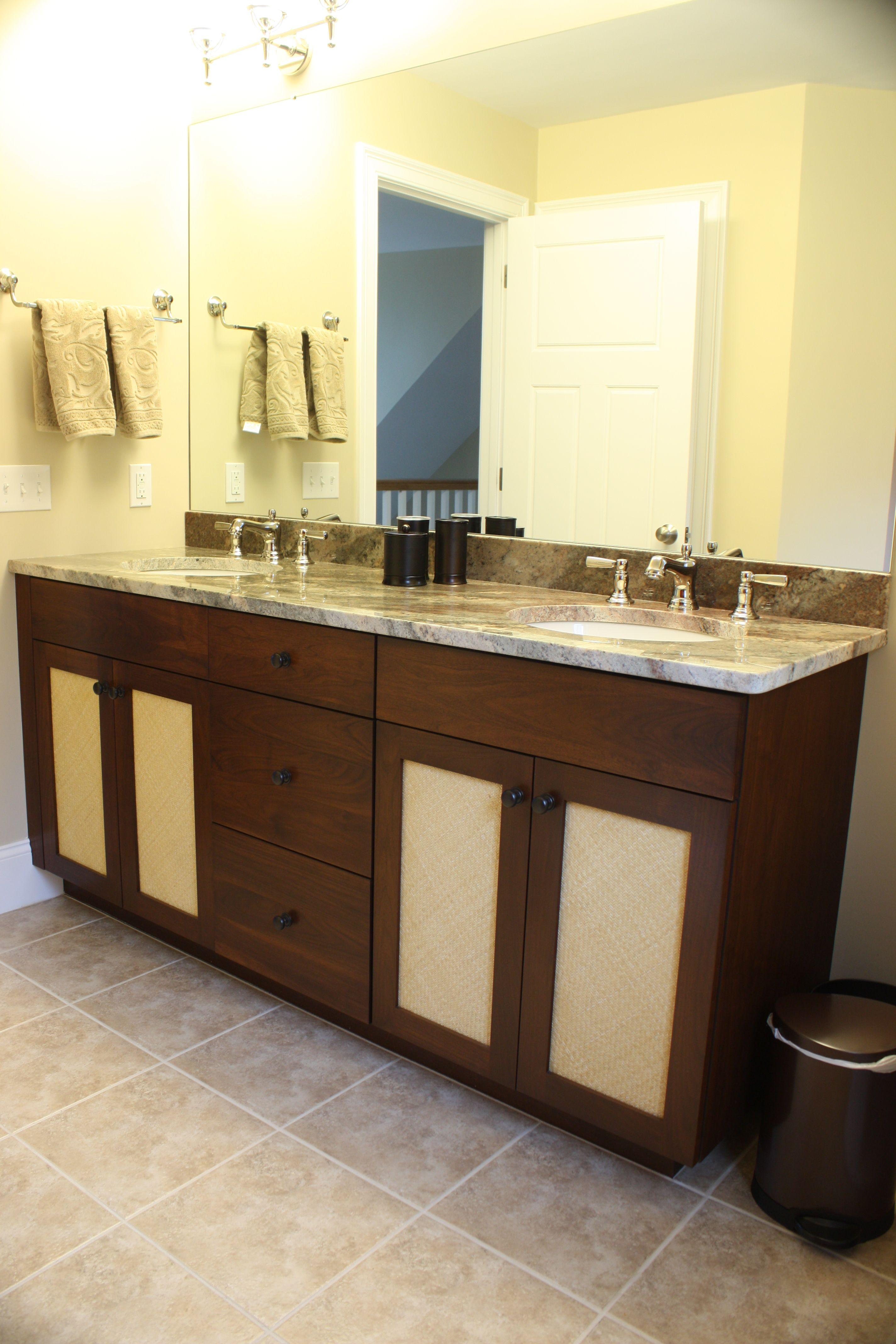 Bathroom Remodel  Large Custom Vanity With Granite Countertop And Two Sinks