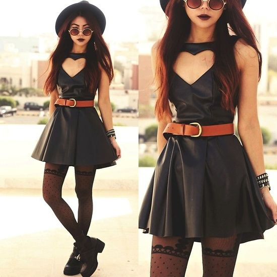 Dress. Glasses. Love this whole outfit.